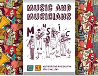 Musicians vector collection