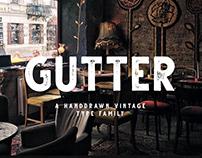 Gutter - Vintage Free Font