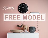 [FREE MODELS] Vintage pink decor trend