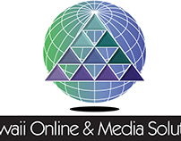 Hawaii Online & Media Solutions Logo Identity