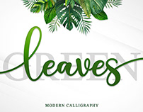 Free Green Leaves Handwritten Font