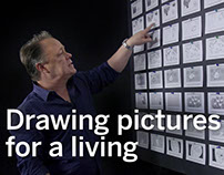 Drawing pictures for a living