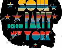 Funk Soul graphic design vector art
