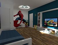 3D Kids room design