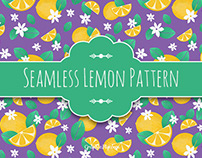 Seamless Textured Lemon Pattern