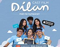 poster #Tamunyakumparan cast film Dilan