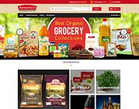 Aanandas Grocery ecommerce site