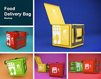 Food Delivery Bag Mockup