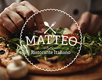 Identity design for an Italian restaurant Matteo