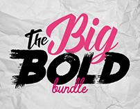 TheHungryJPEG's Big Bold Font Bundle