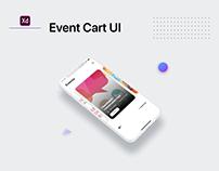 Event Carts UI - Adobe XD
