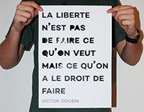 Affiche sur la liberté d'expression