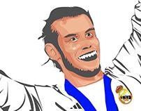 New Vector Art '' Gareth Bale''