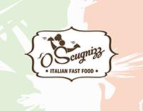 Progettazione logo - 'o Scugnizz - Italian fast food -