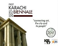 Karachi Biennale (brochure design)