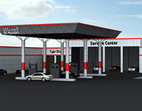 ACP Cladding Design for Petrol Pump