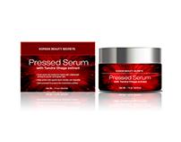 Concept design pressed Serum sample design