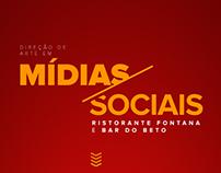 Social Media - Ristorante Fontana e Bar do Beto