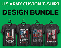 US Army/Soldiers/Military T-Shirt Designs Bundle