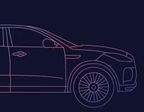 Jaguar Land Rover Backdrop Design