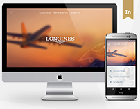Longines Web and Android Design - 2016