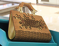 Wooden bag-Japanese style