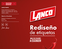 Rediseño de etiqueta, Lanco Dominicana