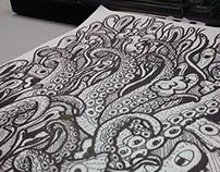 Doodle Psicodelico Pulpo - Wilmai