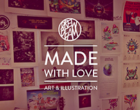 MADE WITH LOVE | Art & Illustrations by: DREW BEAM