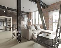 Interior visualization 001 / Loft / Living Room