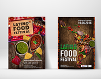 Latino Food festival  poster