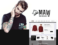 Concept of men's online clothing shop