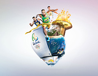 Visa Olympics Print and Digital advertising 3D Design