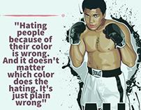 Muhammad Ali quotes and art X