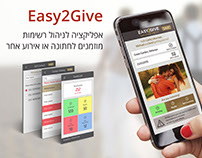 Easy2Give mobile & web app