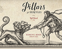 Pillars Of Hercules Label Illustrated by Steven Noble