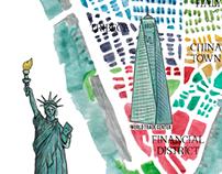 New York City Illustrated Map