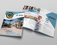Print Collateral 11x17 Abriza Bi-Fold Brochure Design