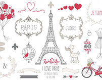 Free Design of the Week - I Love Paris