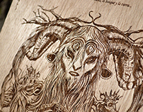 'I am a Faun' - Wood engraving