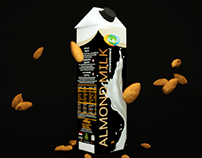 3D Motion Graphics Lamar almond milk