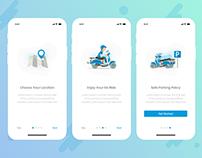 Walkthrough Screens - Go Ride App