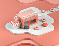 Google Home Mini Donut Shop