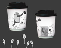 kawa DOBRA/coffe cup | illustration