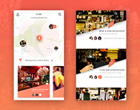 Map view & list view for booking a restaurant