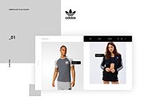 Adidas website & app concept.