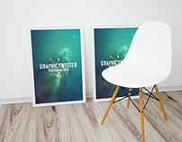 Free Double Poster Frame Mockup