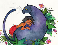 Mowgli and Bagheera