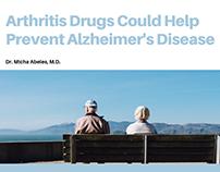Arthritis Drugs Could Help Prevent Alzheimer's Disease