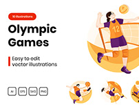 M311_ Olympic Games Illustrations